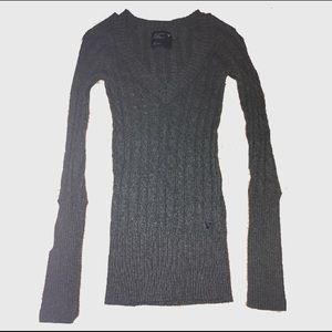 American Eagle Outfitters Grey Fitted Sweater